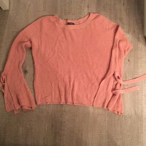 Peach Bell sleeve express sweater